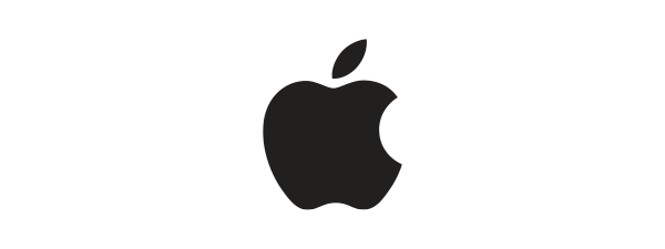 Logo Apple - 600 x 225 pixel