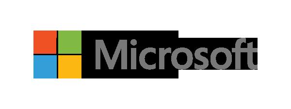 Logo Microsoft - 600 x 225 pixel